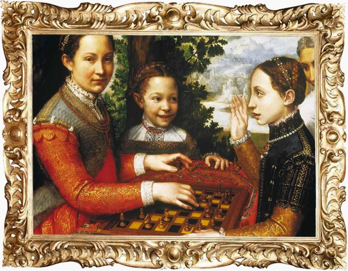 Sofonisba Anguissola, The Chess Game,, 1555, National Museum, Poznań, Poland